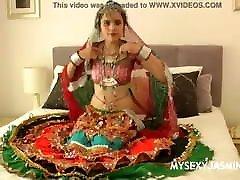 Gujrati Indian college babe Jasmine strip