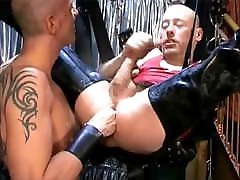 Fist Bareback and Dildo in a Sling
