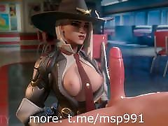 Rule34 Cartoon my poking Overwatch Ashe