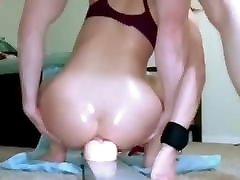 Girlfriend anal didldo fuck