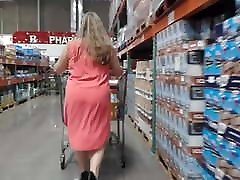 Fat ass PAWG MILF in tight dress and gay immanuel heels