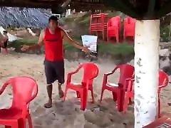 Playa nudista en Brasil