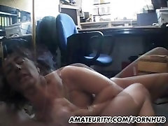 Busty amateur forced free sucks and fucks with facial