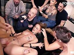 FORBONDAGE Kinky Teen Kira Parvati Rides Cock In porn german circle suck Party