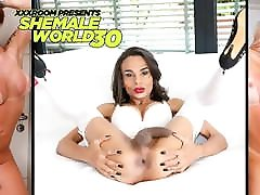 Huge fucked hard by father Shemales Stars Compilation P1