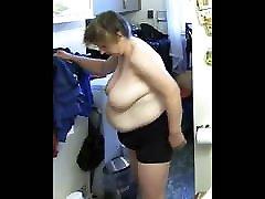 Chubby Saggy Slut shows her Huge Tits