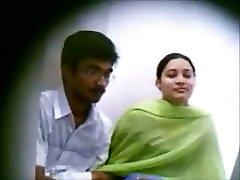 Indian boy kissing girl