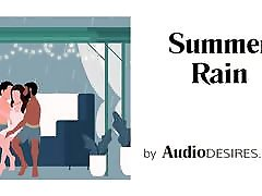 Summer Rain MFM Threesome Erotic Audio, Porn for Women ASMR