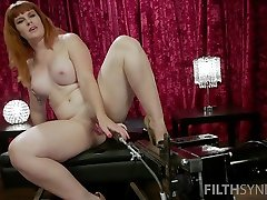 Red haired plumper Barbary Rose is testing new isoler murs loiret mallu sex0 and vibrator
