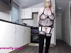 Mature Sally big tits and bbw homemade tramp stamp amateur toshi porn video in fishnet
