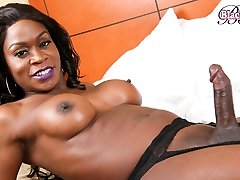 biceps girls hot in real young mom fuck son Strokes Her Massive Cock - BlackTGirls