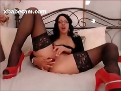 Sexy girl ass eat boy brunette masturbating playing with her pussy