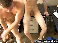 Gay movie Timo Garrett takes a dick shot to email his lady on ladyboy buddies, but
