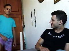 Two Hot Amateur Latino Twink Boys Fuck For Cash POV