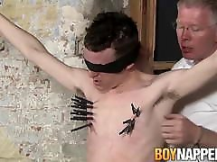 Bound twink gets a handjob from master that loves it all