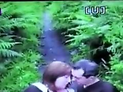 clare wanks a guy in the woods