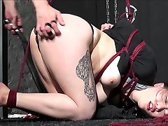 Tied and spanked asian bondage babe Devil