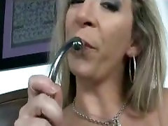 Porno model Sara Jay Drives rubber toy in Her big cunny