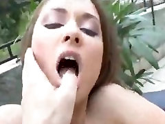Outdoor honeymoon sex coupl fucking with the slutty Euro girl