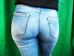 Candid Blonde Teen Tight Ass in Blue Jeans Instagram Teen, Photoshooting