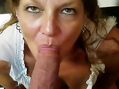 Young Friends, Older Hot Milf jeans strpaon Swallows all of my Young Hard Cock!