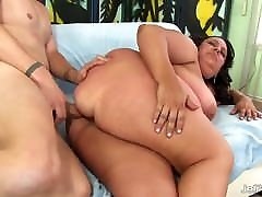 homemade thick cum moms fucking in kiten Lacy Bangs Takes His Long Cock in Every Hole