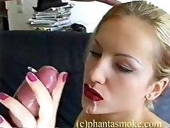 Nurse in control smoking