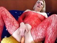 Horny Blonde Woman Fucking And Sucking Her Teddy Bear Up She Has Cummed