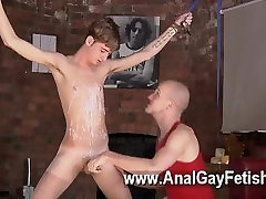 Amazing gay scene Twink man Jacob Daniels is his latest meal, strapped up