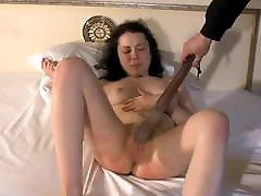 Pussy and tits spanking