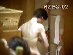 Big nipples on skinny Japanese milf voyeur