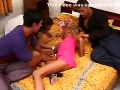 Nikky Blond Fucked by 3 Guys