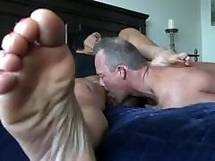Mature femdome step mom while licking facesitting while soles show