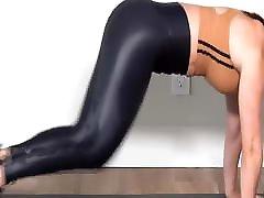 Super shiny two telugu leggings exercises
