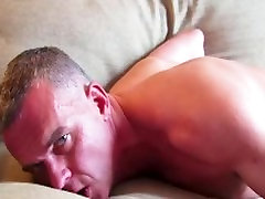 Mathieu a sexy 44 y.o sport guy gets wanked his huge cock by a guy !