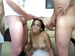 Huge Facials For Young Cum Slut !!