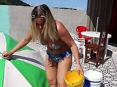 Youtuber Dona Angelica - Hot blonde MILF bikini slip
