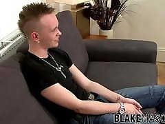 Young British big hard fouck teens with mohawk haircut Marco jerks off hard