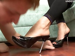Hard trampling and foot worship