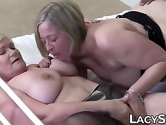 Grannies with dofrent sex hard breasts devour a single BBC and love it