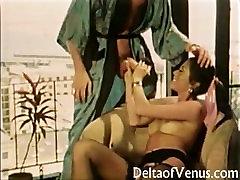 John Holmes & Linda Wong - drunk thin girl Fucking