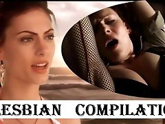 LESBIAN COMPILATION - celebrities with silvia licking - Bitch Slap eating pussy