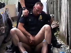 Gay old man cops fucking and huge dick Serial Tagger gets caught in the