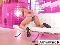 xxxporn of miss world tattooed blonde plays with a tkw bahre toy