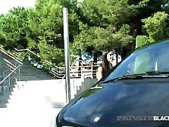Private Black - Dark haired Gala Brown Rides maal girta hi Black Cock!