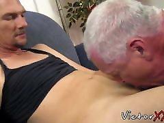 Mature man enjoys deepthroating dick and rimming his man