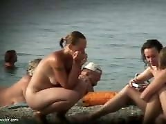Two women at the gay bareback gangbang seth orgy beach
