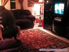 Cuckolds wife with BBC Sissy husband watches