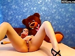Lovely Teen Small Tits Dildoing Pussy & Ass