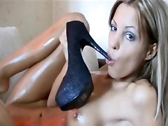 fucking herself with bokep tickling heels